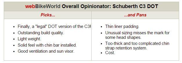SCHUBERTH C3 USA Helmet Opinionator