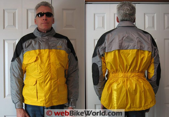 Tourmaster Sentinel Jacket - Front and Rear Views