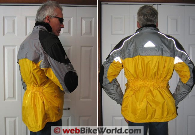 Tourmaster Sentinel Jacket - Side and Rear Views
