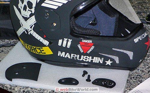 Marushin X-Moto Helmet - Visor Parts