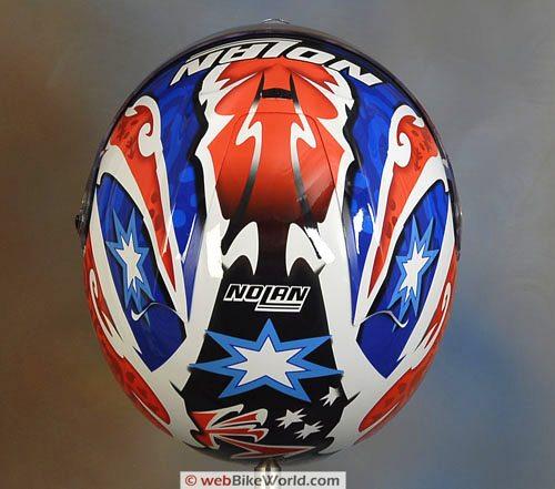 Nolan N94 Helmet - Top view