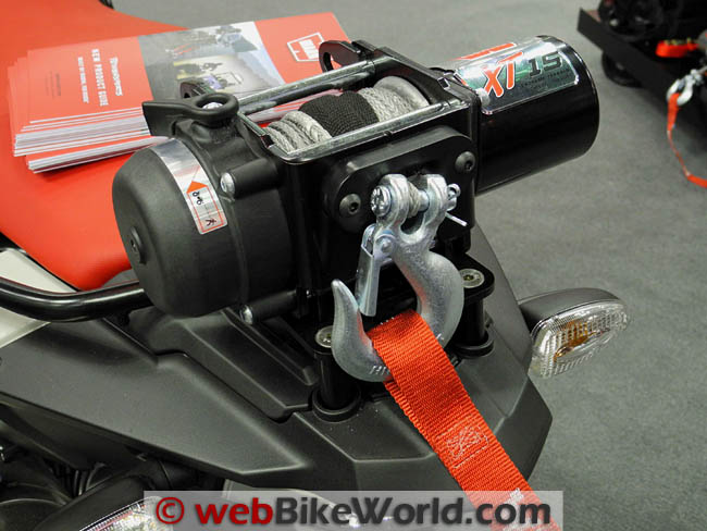 Warn XT15 Winch on Motorcycle
