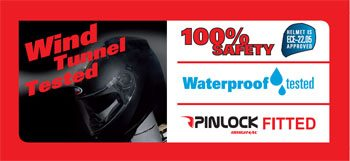 Caberg Ego Helmet Waterproof Label