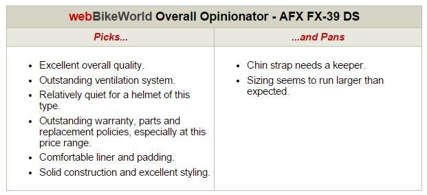 AFX FX-39 Helmet Opinionator