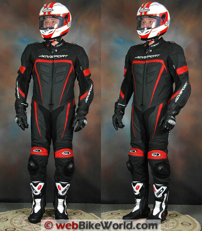AGV Sport Willow Leather Suit - Front and Side Views