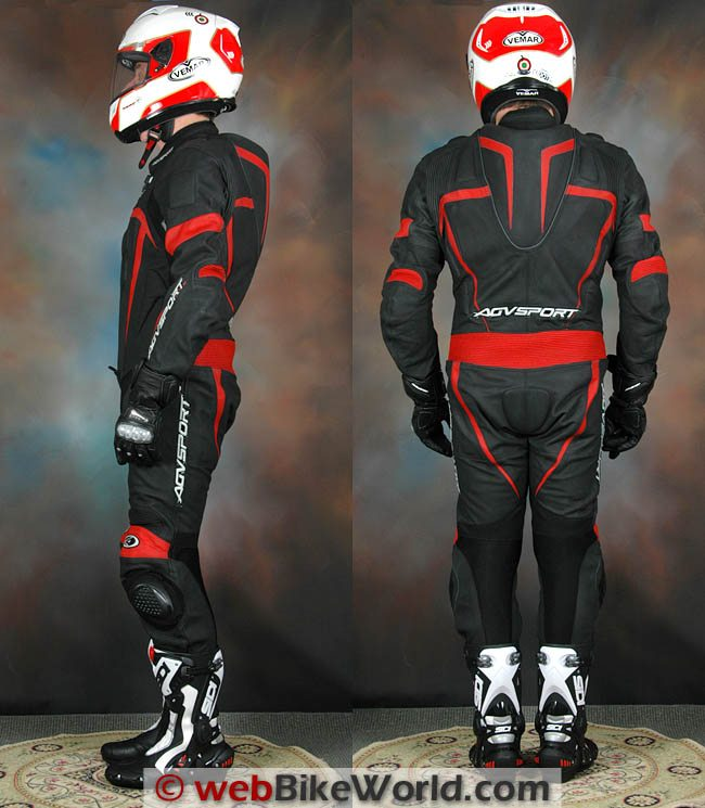 AGV Sport Willow Leather Suit - Side and Rear Views