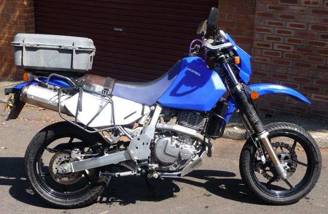 DR650 Blue Right Side