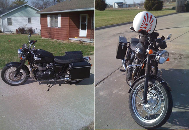 Moto-Sport Panniers Front and Side Views