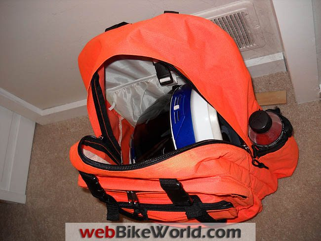 Orange Backpack Inside Views