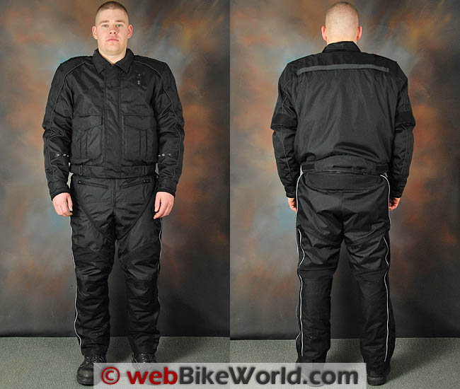 Tourmaster Flex LE Jacket and Pants, Front and Rear Views