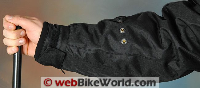 Tourmaster Flex LE Jacket Arm Adjusters and Sleeve Cuffs