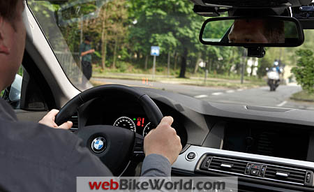 BMW Left Turn Assistant Driver View