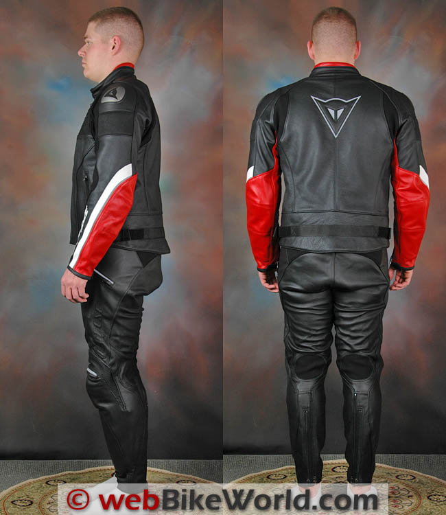 Dainese Alien Jacket and Pants Side and Rear Views