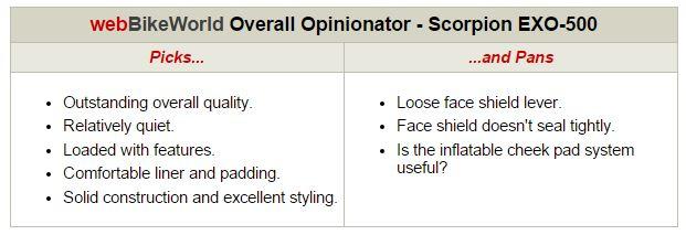 Scorpion EXO-500 Opinionator