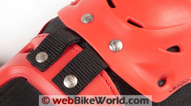 Shift Enforcer Knee Guards Straps and Rivets