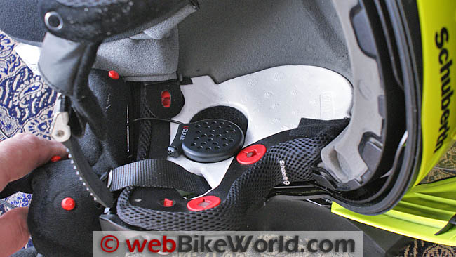 UClear HBC 100 Mounted in a SCHUBERTH C3 Helmet