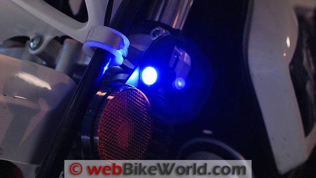 BikeVis Blue Bullets Close-up