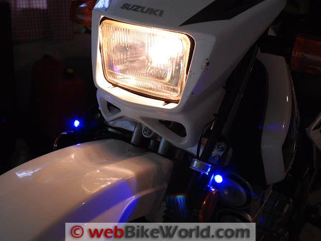 BikeVis Bullets Blue LED Lights