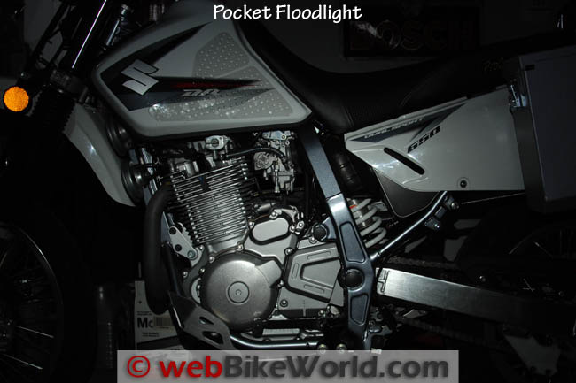 Pocket Floodlight on the Motorcycle