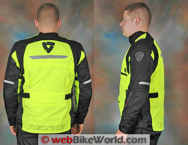 Rev'it Energy HV Jacket Rear and Side Views