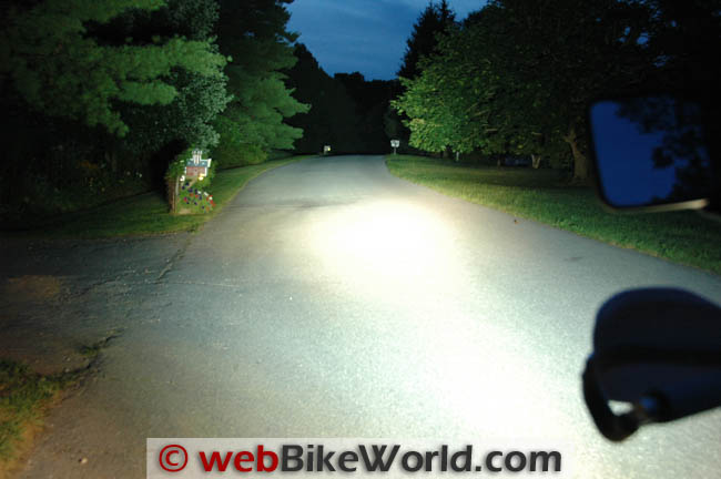 DR650 High Beam Plus Krista Lights