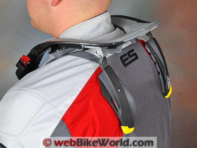 Leatt STX Brace Rider Rear View