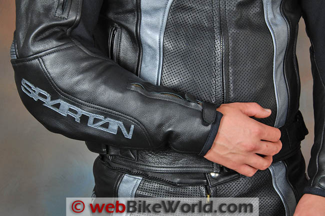 Spartan Leathers Charge Race Suit Arm