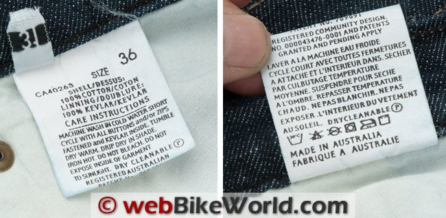 Drayko Drifter Jeans Label Close-up