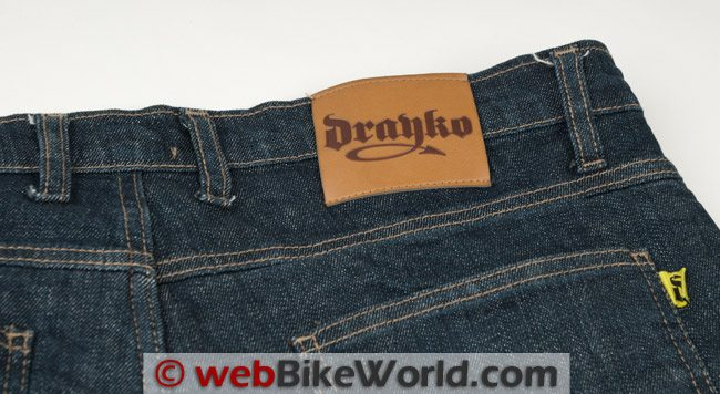 Drayko Drifter Jeans Rear Label Loose Threads