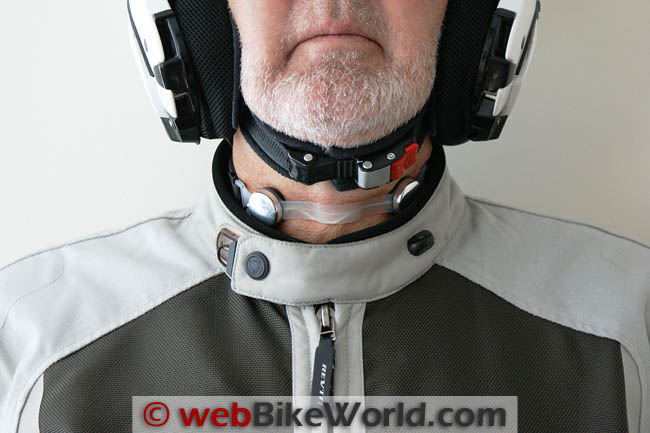 Iasus Throat Mic With Motorcycle Jacket