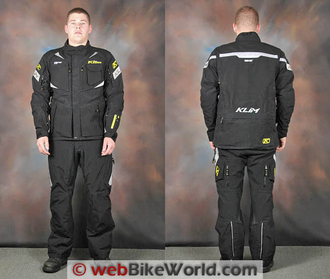 Klim Badlands Pro Jacket Front and Rear Views