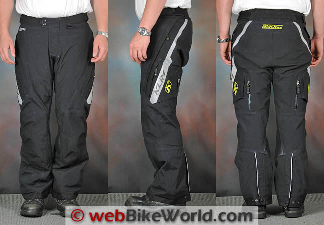 Klim Badlands Pro Pants Front Side Views