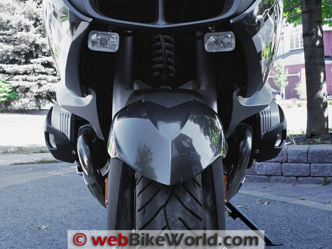 MachineArt Moto X-Head Cylinder Guards on BMW R1200RT