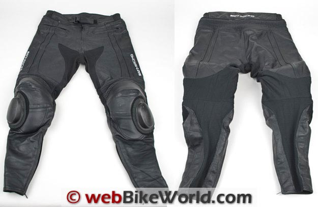 Bilt Trackstar Leather Pants Front and Rear View