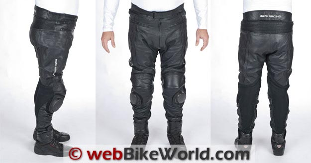 Bilt Trackstar Leather Pants Three Views