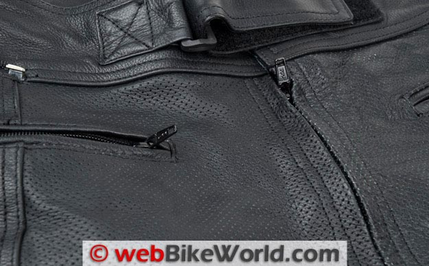 Bilt Trackstar Leather Pants Zipper Close-up