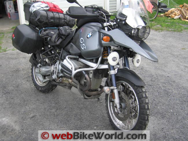 Continental TKC 80 Tires on BMW R1150GS