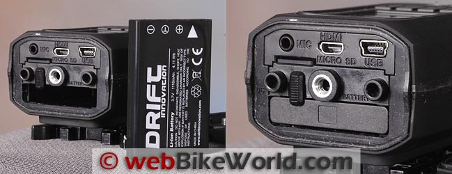 Drift HD Battery Compartment