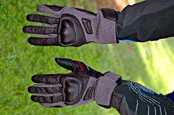 Mesh motorcycle riding gloves - Hurricane gloves by REV'IT!, top view
