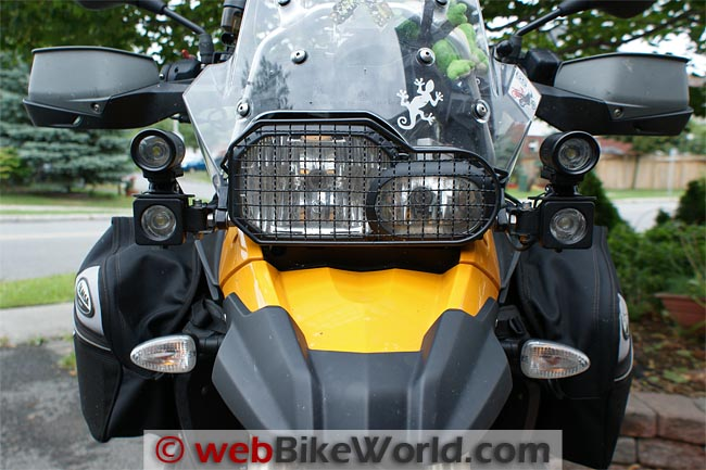 Trail Tech Equinox LED Lights Mounted on BMW