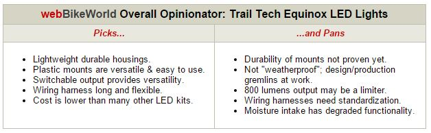 Trail Tech Equinonx LED Lights Opinionator