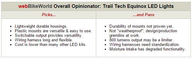 Trail Tech Equinonx LED Lights Opinionator