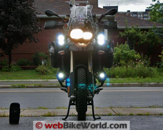 Trail Tech Equinox LED Lights Turned On