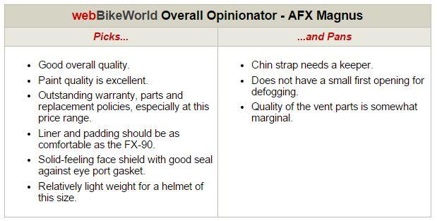 AFX Magnus Overall Opinionator
