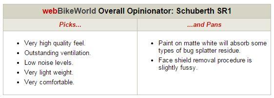 SCHUBERTH SR1 Opinionator