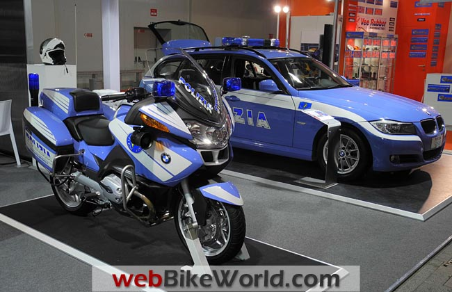 BMW Police Motorcycle and Car