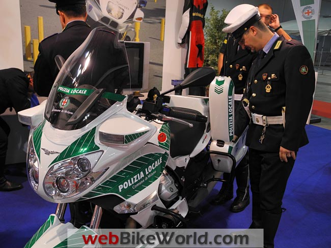 Moto Guzzi Police Motorcycle Front