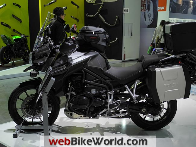 Triumph Tiger Explorer Left Side Gray