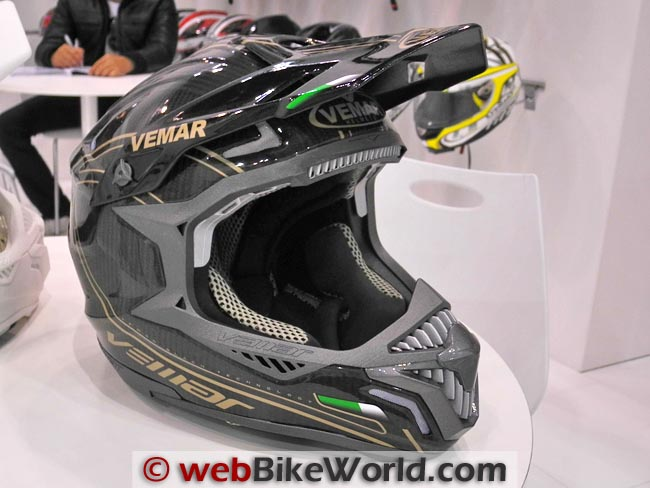 Black Technology Off-Road Helmet Front View