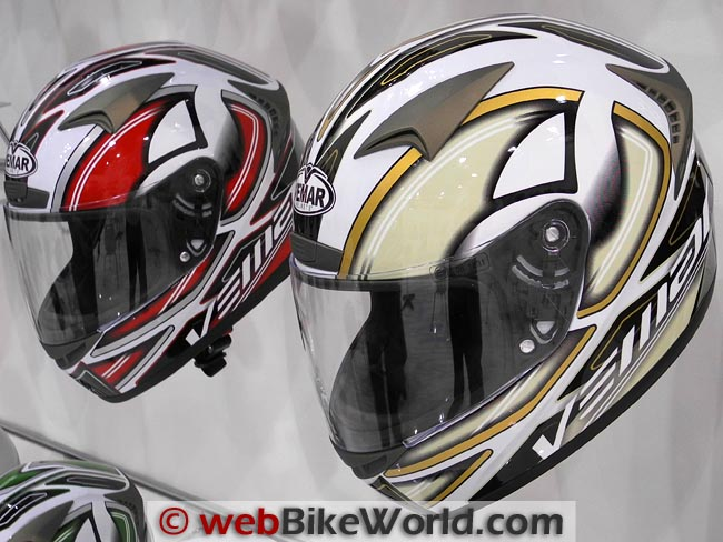Vemar Storm Helmets Red and Brown